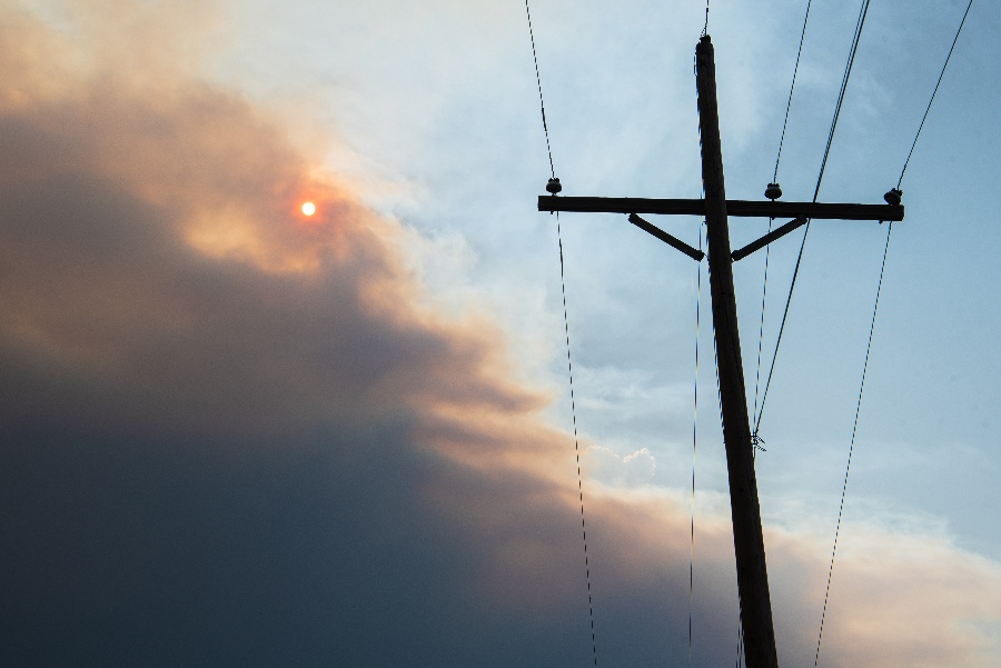 FRP Composite Utility Poles Withstand Forest Fires